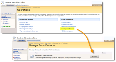 SharePoint 2007 - Central Admin - Activate Farm Feature
