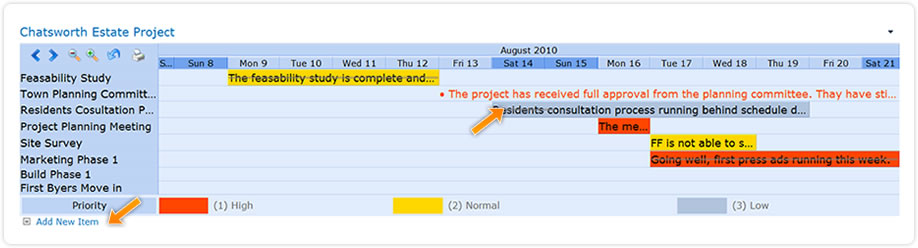 shrepoint planner webpart project gantt add and amend items