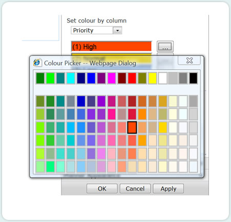sharepoint planner webpart gantt chart color picker