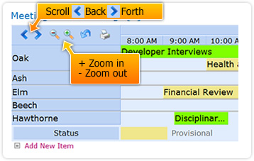 SharePoint planner webpart - scroll and zoom