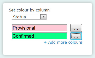 Sharepoint planner webpart - color by column
