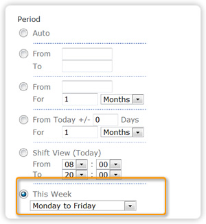 Sharepoint planner webpart shift planning, focus on relecant time period