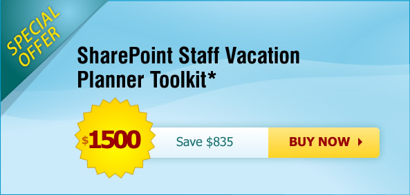 SharePoint Staff Vacation Planner offer